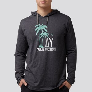 Delta Upsilon Palm Tree Mens Hooded Shirt