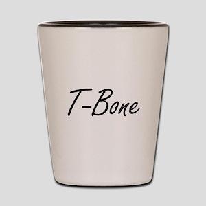 TBone blacktxt Shot Glass