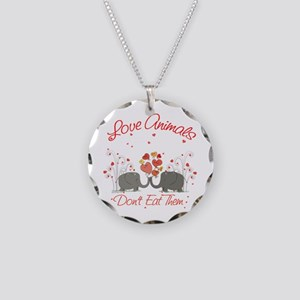 Love Animals Necklace Circle Charm