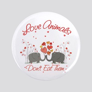 "Vegan Message 3.5"" Button"