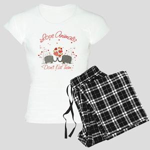 Vegan Message Women's Light Pajamas