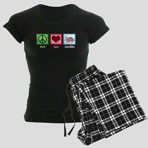 Peace Love Armadillos Women's Dark Pajamas