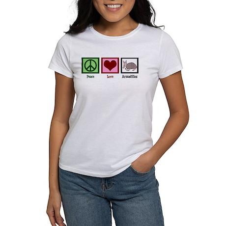 Peace Love Armadillos Women's T-Shirt