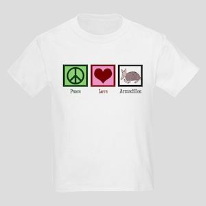 Peace Love Armadillos Kids Light T-Shirt