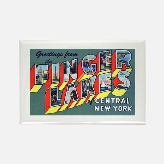 Finger Lakes New York Rectangle Magnet