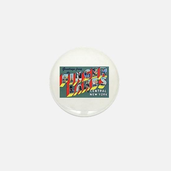 Finger Lakes New York Mini Button