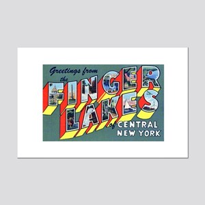Finger Lakes New York Mini Poster Print