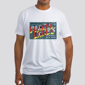 Finger Lakes New York (Front) Fitted T-Shirt