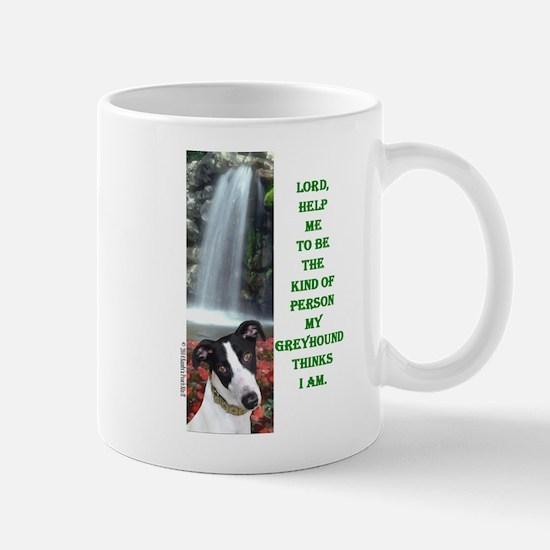 Lord Help Me -RecMag -Greyhound,WhiteBlack Mugs