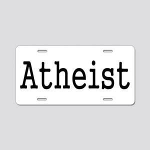 Atheist Vintage Typewriter Aluminum License Plate