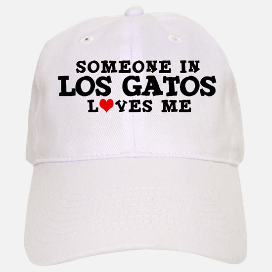 Los Gatos: Loves Me Baseball Baseball Cap