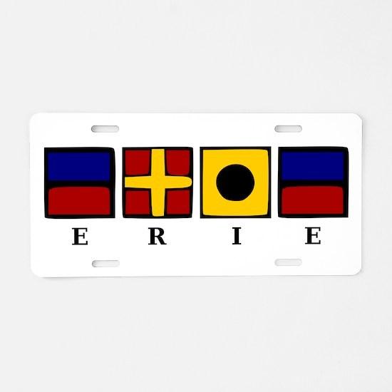 Nautical Erie Aluminum License Plate