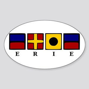 Nautical Erie Sticker (Oval)