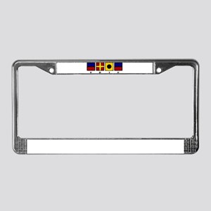 Nautical Erie License Plate Frame