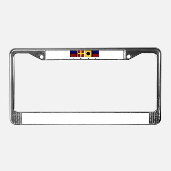 Nautical Erie License Plate Frame