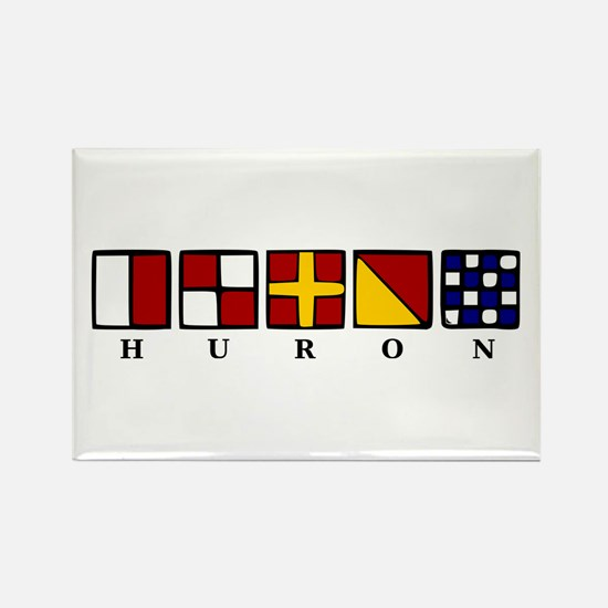 Nautical Huron Rectangle Magnet