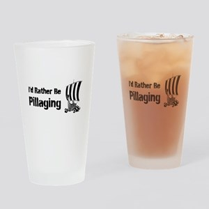 Id Rather Be Pillaging design Drinking Glass