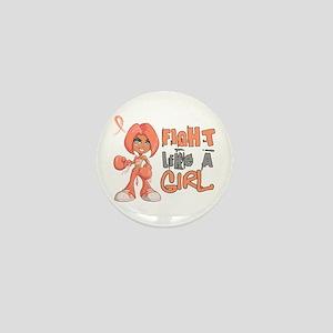 Licensed Fight Like a Girl 42.8 Uterin Mini Button