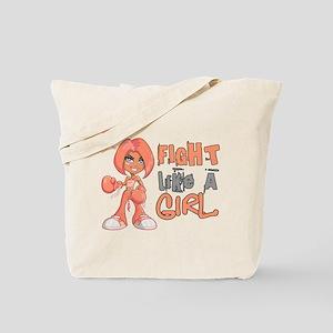 Licensed Fight Like a Girl 42.8 Uterine C Tote Bag