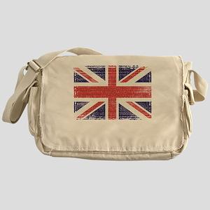 Great Britain flag vintage Messenger Bag