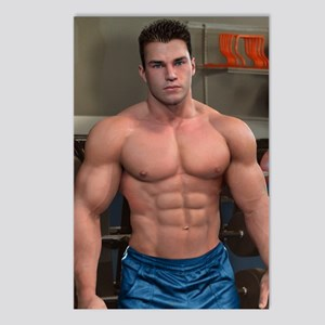 Gym Hunk Postcards (Package of 8)