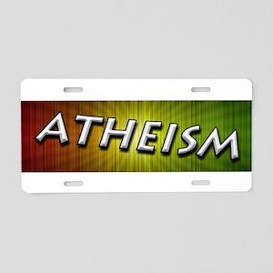 Atheism Rhythm Aluminum License Plate