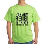 Sheldon Cooper Quote Green T-Shirt