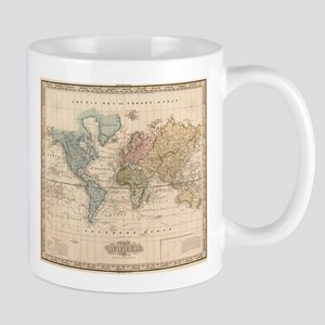 Vintage Map of The World (1823) 2 Mugs
