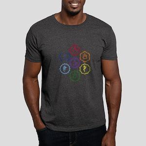 7 Chakras in a Circle Dark T-Shirt