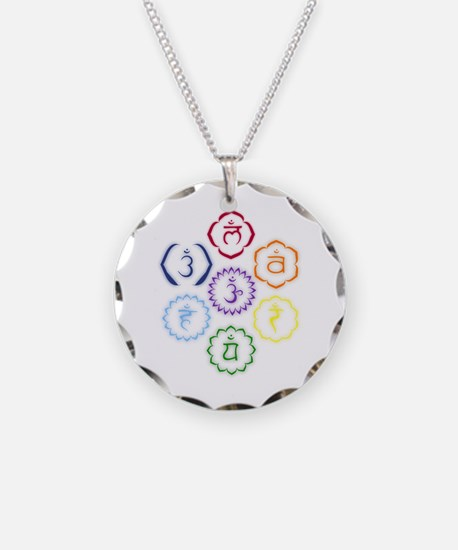7 Chakras in a Circle Necklace