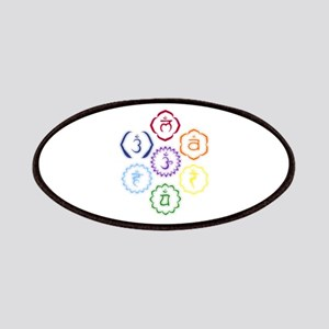 7 Chakras in a Circle Patches