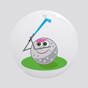 Golf Ball! Ornament (Round)