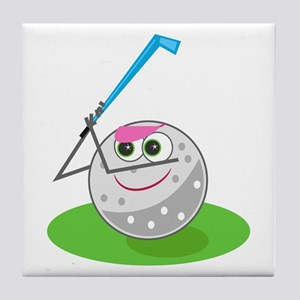Golf Ball! Tile Coaster