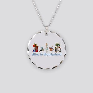 Alice In Wonderland Necklace Circle Charm