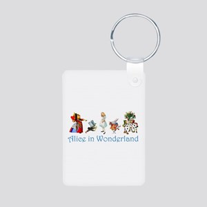 Alice In Wonderland Aluminum Photo Keychain
