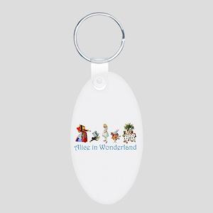 Alice In Wonderland Aluminum Oval Keychain