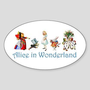 Alice In Wonderland Sticker (Oval)