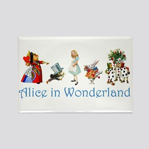Alice In Wonderland Rectangle Magnet