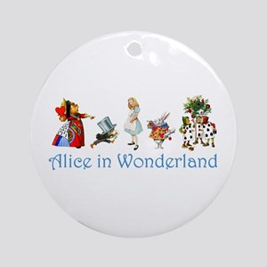 Alice In Wonderland Ornament (Round)