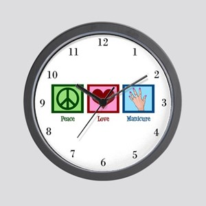 Peace Love Manicure Wall Clock