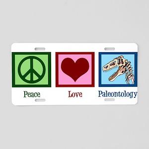 Peace Love Paleontology Aluminum License Plate