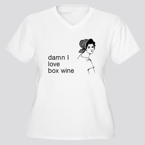 Damn I Love Box Wine Women's Plus Size V-Neck T-Sh