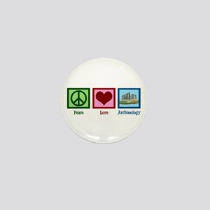 Peace Love Archaeology Mini Button