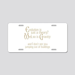 Evolutionary Theory Aluminum License Plate