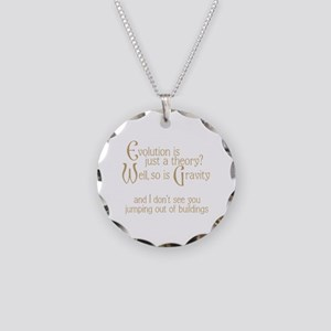 Evolutionary Theory Necklace Circle Charm
