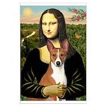 Mona Lisa - Basenji Large Poster