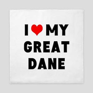 luv my great dane Queen Duvet