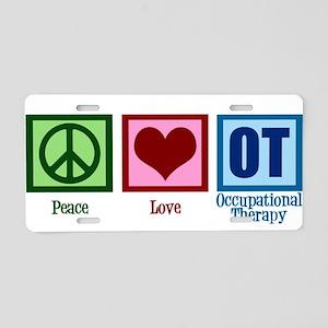 Peace Love OT Aluminum License Plate