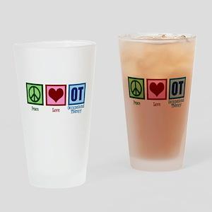 Peace Love OT Drinking Glass