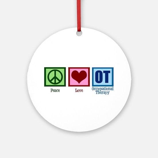 Peace Love OT Ornament (Round)